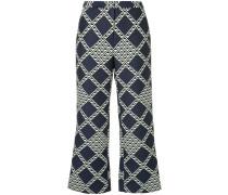 diamond cropped bootleg trousers