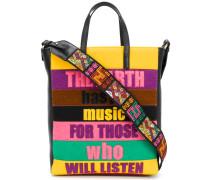 Handtasche mit Slogan-Patches