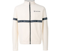 velvet zip front sweatshirt