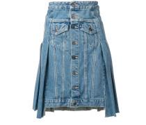 Jeansrock mit Faltendetails