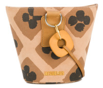 printed bucket bag