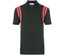 stripe shoulder polo shirt