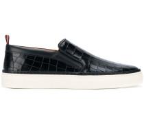 Slip-On-Sneakers mit Krokodil-Effekt