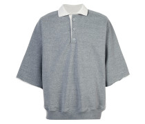 oversized sleeves polo shirt