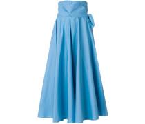 high-waisted full midi skirt