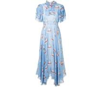 Kleid mit Schwan-Print