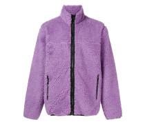 Flauschige Jacke mit Reißverschluss