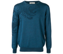 Pullover mit Laubmuster