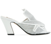 abstract bow heeled mules