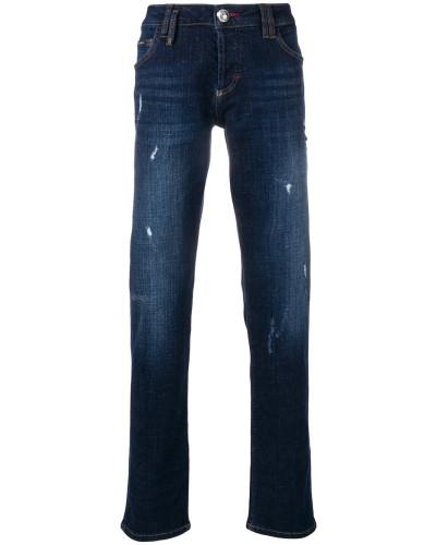 Jeans mit Distressed-Details