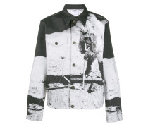 Jeansjacke mit grafischem Print