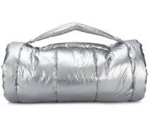 metallic barrel bag