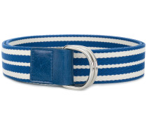 striped buckle belt