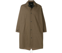 oversized press-stud coat