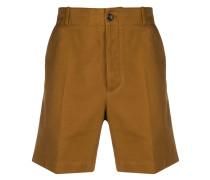 Chino-Shorts mit Logo-Stickerei