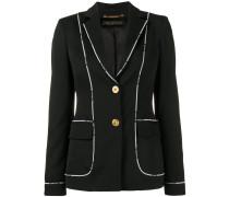 Greek Key logo-trimmed jacket