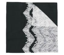 zig-zag lace panel scarf