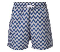 Shorts mit Wellen-Print