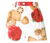 "Mini-Shorts mit ""Cookie & Rose""-Print"