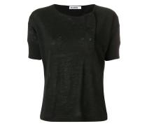 off-centre button T-shirt