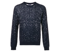 flecked rib knit sweater