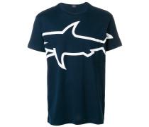 shark print T-shirt