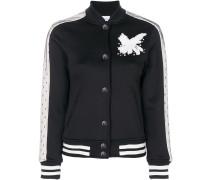 3D flower detail bomber jacket