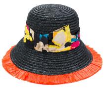 Hut mit floralem Ripsband
