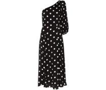 Einschultriges Polka Dot-Kleid