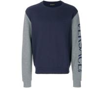 logo sleeve sweatshirt