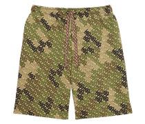 Bermudas mit Camouflage-Print
