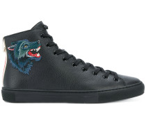 High-Top-Sneakers mit Wolfs-Patch