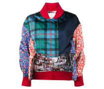 Bomberjacke in Patchwork-Optik