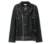 zipped denim jacket - Unavailable