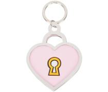 padlock heart keyring