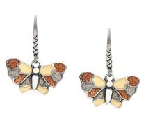 Emaillierte Schmetterling-Hängeohrringe