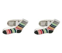 Knopfmanschetten in Socken-Optik