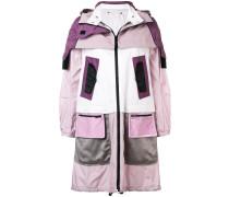 Mantel im Lagen-Look mit Kapuze