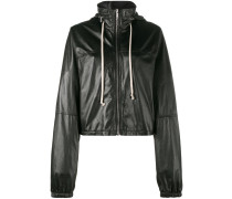 Cropped-Windbreaker aus Leder