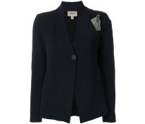 Blazer mit Tuch-Applikation