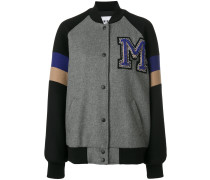 Collegejacke mit Patch