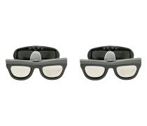 Manschettenknöpfe in Brillenform