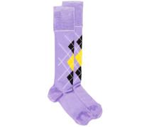 Socken mit Karomuster
