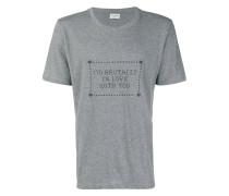 T-Shirt mit Slogandesign