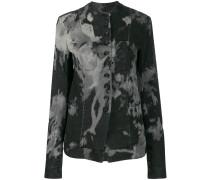 Schmale Jacke mit Batikmuster