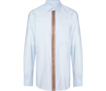 Popeline-Hemd mit Streifen