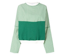 colourblock striped sweatshirt
