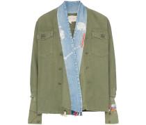Military-Jacke mit Jeanskragen
