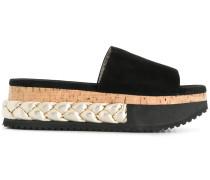 braided platform slippers