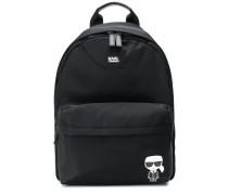 Karl motif logo backpack